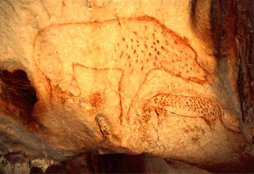 20,000 Year Old Cave Painting: Hyena