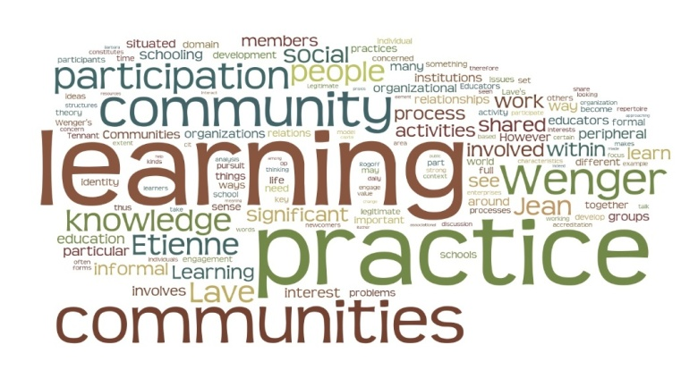 Wordle of Communities of Practice Article